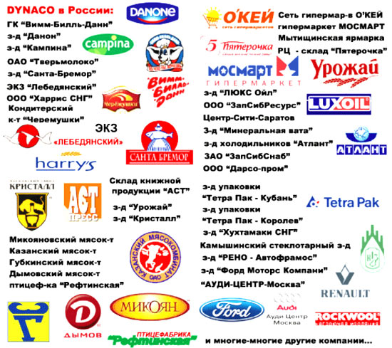 Промышленные рулонные скоростные ворота Dynaco в России